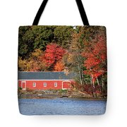 Fall At The Mill Tote Bag by Jayne Carney