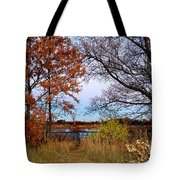 Fall At West Park Pond Tote Bag