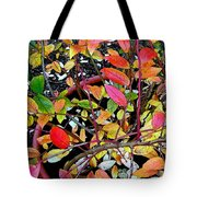 Fall Blueberry Bush Tote Bag