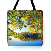 Fall By The Lake Tote Bag