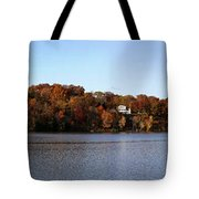 Fall By The River Tote Bag