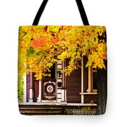 Fall Canopy Over Victorian Porch Tote Bag