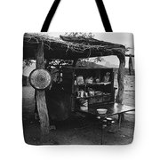 Fall Cattle Round-up Tohono O'odham Reservation Cook's Work Area Hanging Meat For Curing Near Sells  Tote Bag