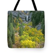 Fall Color And Waterfalls In Provo Canyon Utah Tote Bag