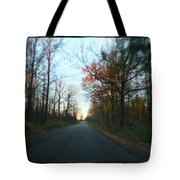 Fall Color Blur Tote Bag