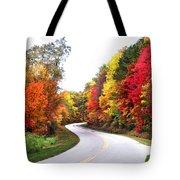 Fall Colors Along The Blueridge Parkway Tote Bag