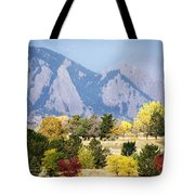 Fall Colors Along The Flatirons Tote Bag