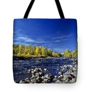 Fall Colors Along The Naches River Tote Bag