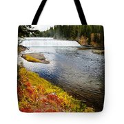 Fall Colors And Waterfalls Tote Bag