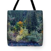 Fall Colors By The Spokane River Tote Bag