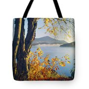 Fall Colors Frame Whiteface Mountain Tote Bag