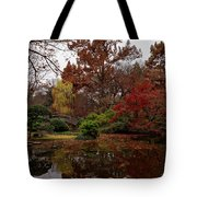 Fall Colors In The Garden Tote Bag
