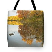 Fall Colors On Taylor Pond Mount Vernon Maine Tote Bag by Keith Webber Jr
