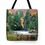 Fall Colors On The  Tahquamenon River   Tote Bag