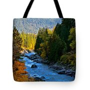 Fall Colors On The Wenatchee River Tote Bag
