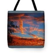 Fall Evening Falls Tote Bag