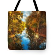 Fall Filtered Reflections Tote Bag by Sylvia J Zarco