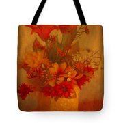 Fall Flower Bouquet Tote Bag