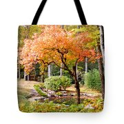 Fall Folage And Pond 2 Tote Bag