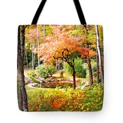 Fall Folage And Pond Tote Bag