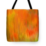 Fall Foliage Abstract Tote Bag