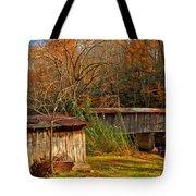 Fall Foliage At Meems Bottom Bridge Tote Bag