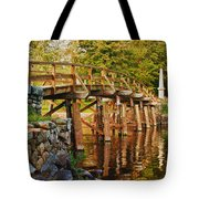 Fall Foliage Over The North Bridge Tote Bag
