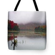 Fall Foliage Reflections In Northern Vermont Tote Bag