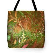 Fall Fractal Fields Tote Bag