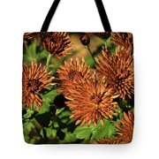 Fall Garden Flowers Tote Bag