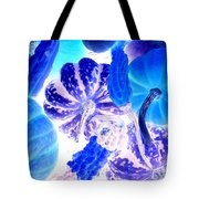 Fall Gourds Blues Tote Bag