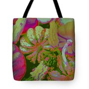 Fall Gourds Pinked Tote Bag