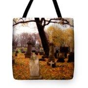 Fall Graveyard  Tote Bag