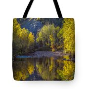 Autumn Reflections In Fort Mcmurray Tote Bag
