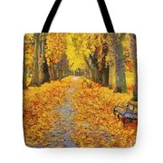 Fall In The Park Tote Bag