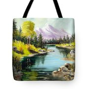 Fall In The Rockies Tote Bag by Lee Piper