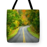 Fall Is Coming Country Road Tote Bag