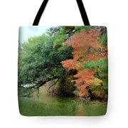 Fall Landscape Around The Lake 5 Tote Bag