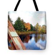 Fall Landscape Old Bridge Maine Tote Bag