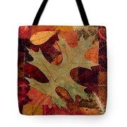 Fall Leaf Collage Tote Bag