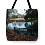 Fall Leaves Carpet And Metal Sofa Tote Bag