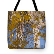 Fall Leaves On Open Windows Jerome Tote Bag