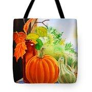 Fall Leaves Pumpkin Gourd Tote Bag