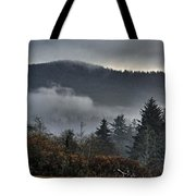 Fall Low Clouds And Fog Tote Bag