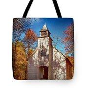 Fall Morning At Palmer Chapel In Cataloochee Tote Bag