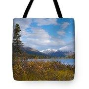Fall Mountain Landscape Of Lapie Lake Yukon Canada Tote Bag
