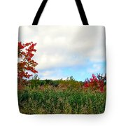 Fall On Fire Tote Bag