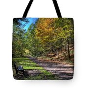 Fall On The Biketrail Tote Bag
