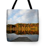 Fall On The Lake Tote Bag