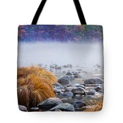 Fall On The Merced Tote Bag by Bill Gallagher